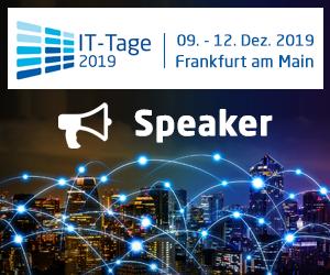 Treffen Sie uns auf den IT-Tagen 2019 vom 09.-12.Dezember im Kap Europa in Frankfurt