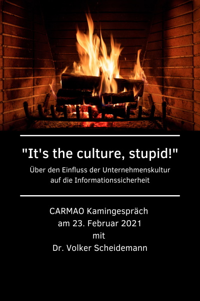 Security Awareness – CARMAO Kamingespräch am 23.Februar 2021
